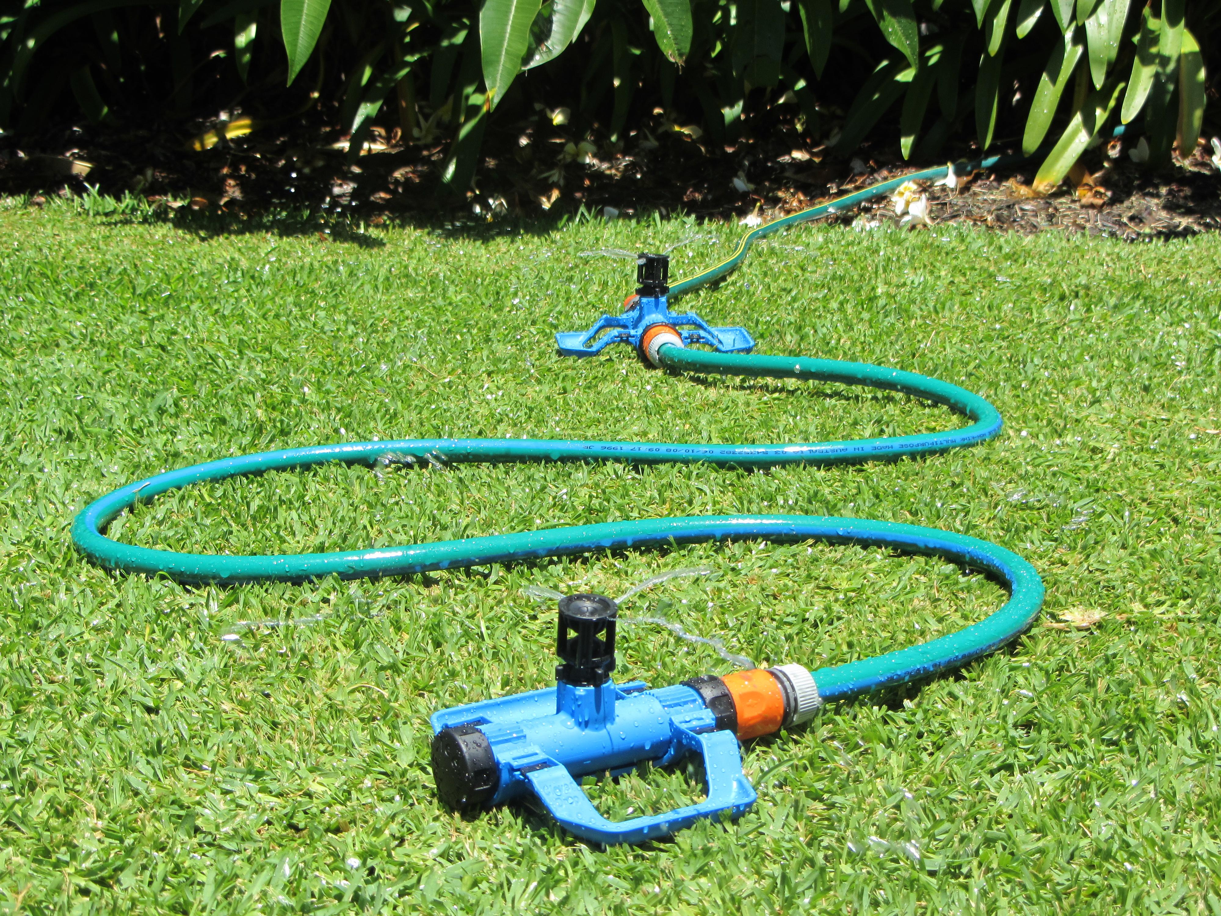 4x Sprinkler Head Clever Drop Gel Top by Wobble-Tee Aussie Made Mini Water Save